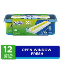 Swiffer Sweeper XL Wet Pad Refills, Open Window Fresh, 12 Ct
