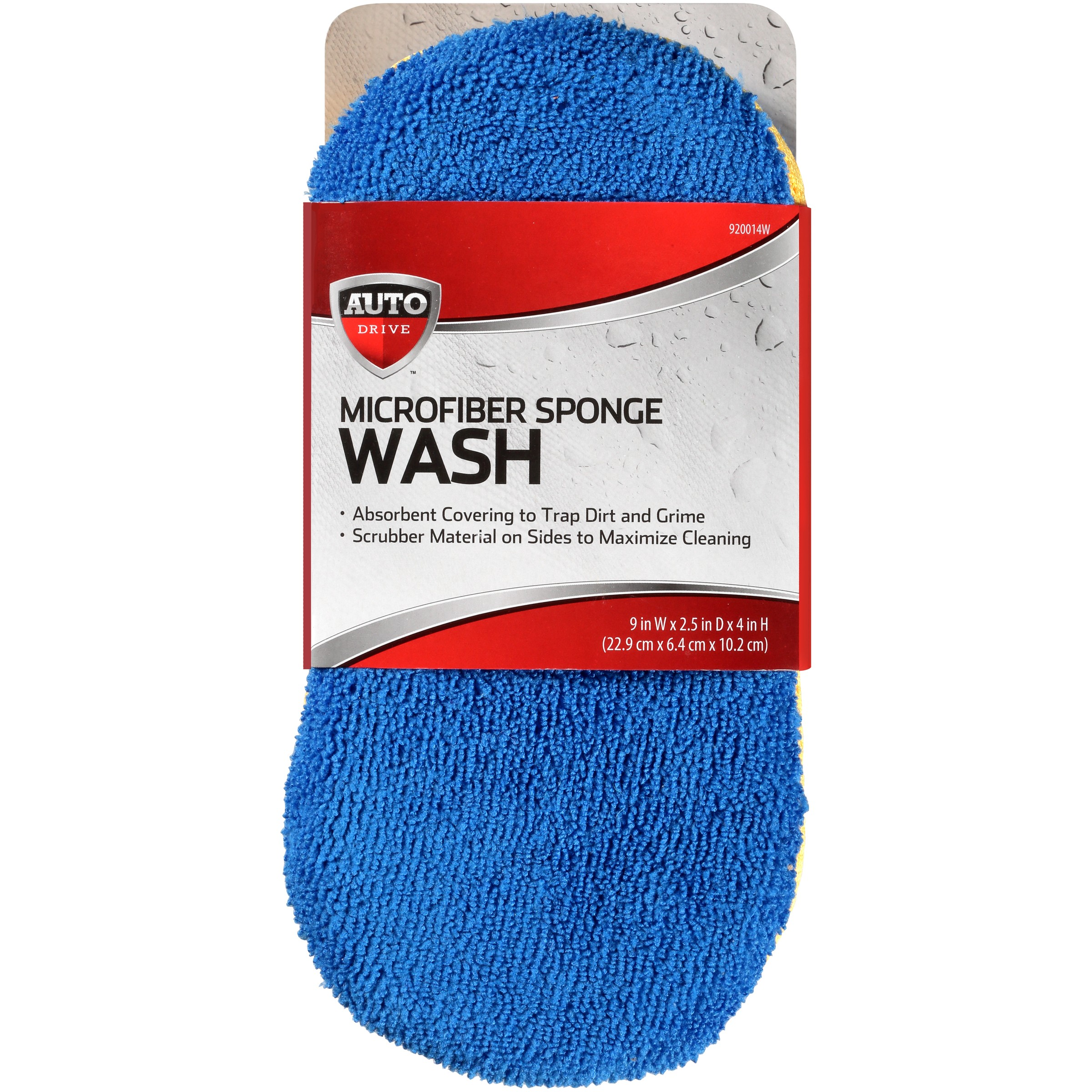 Auto Drive Car Wash Microfiber Sponge, Durable Scrubber Material, Great Water Absorbent, Navy Blue
