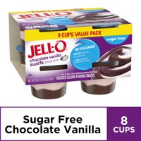 Jell-O Sugar Free Ready to Eat Chocolate Vanilla Swirl Pudding, 8 ct - 29.0 oz Package
