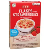 H-E-B Multi Fit Flakes With Berries Cereal