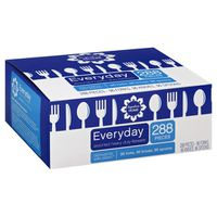 Signature Kitchens Everyday Assorted Heavy Duty Flatware Forks, Spoons, Knives Dishwasher Safe Plastic
