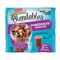 H-E-B Blendables Powerhouse Bananas, Red Grapes, Strawberries, Raspberries, Blueberries & Kale Smoothie
