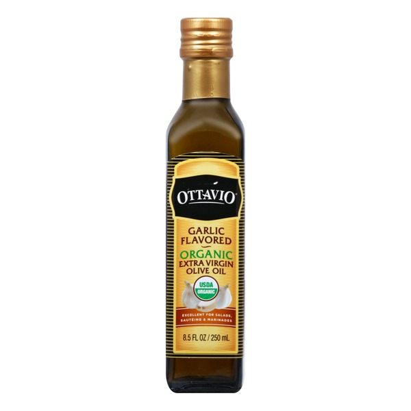 Ottavio Olive Oil, Organic, Extra Virgin, Garlic Flavored