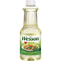 WESSON Pure Canola Oil 0 g Trans Fat Cholesterol Free 24 oz.