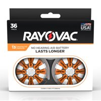 Rayovac Hearing Aid Batteries Size 13 Hearing Aid Batteries, 36-Pack 13-36