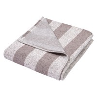 Trend Lab Sweatshirt Knit Baby Blanket Rugby Stripe - Gray