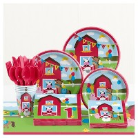 Farm Fun 1st Birthday Party Supplies Kit