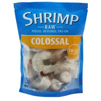 Frozen Raw Colossal Peeled Deveined Tail-On Shrimp, 12 oz