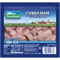 Farmland Cubed Ham, Fully Cooked, 95% Fat Free, Gluten Free, 16 Ounces