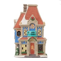 Holiday Time Light-Up Vintage Victorian Coffee Shoppe Scene