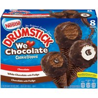 DRUMSTICK We Love Chocolate Ice Cream Sundae Cone Variety Pack – Delicious, Classic Frozen Ice Cream Cone, Delicious Variety Pack of Chocolate Flavors, Pack of 8