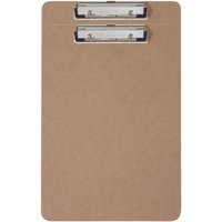 2-Pack Hardboard Clipboard with Low Profile Clip and Built-in Hanging Hole