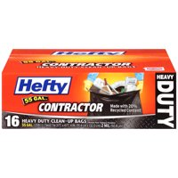 Hefty Heavy Duty Contractor Trash Bags, 55 Gallon, 16 Count