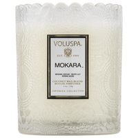 Voluspa Mokara Japonica Limited Edition Petit Embossed Glass Jar Scented Candle