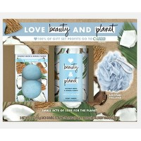 Love Beauty and Planet Body Gift Set Coconut Water and Mimosa Flower - 3pc