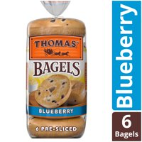 Thomas' Blueberry Soft & Chewy Pre-Sliced Bagels, 6 count, 20 oz