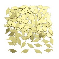 Graduation Mortarboard Gold Confetti