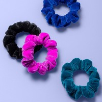 Girls' 4pk Velvet Scrunchies - More Than Magic™