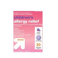 Children's Diphenhydramine Allergy Relief Chewable Tablets - Grape - 20ct - Up&Up™