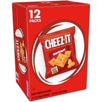 Cheez-It, Baked Snack Cheese Crackers, Original, Single Serve, 12 Ct, 12 Oz