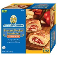 Auntie Anne's Cheese & Pepperoni Frozen Pretzel Pocket Sandwich - 2pk/10.8oz