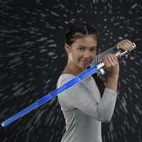 Star Wars Rey Electronic Blue Lightsaber Toy for Ages 6 and Up