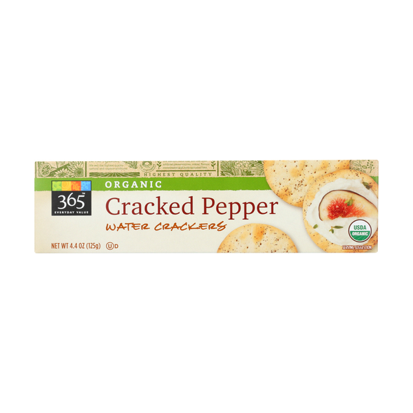 365 everyday value® Crackers, Cracked Pepper Water Crackers, 4.4 Oz.