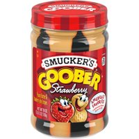 Smucker's Goober Peanut Butter and Strawberry Stripes, 18-Ounce