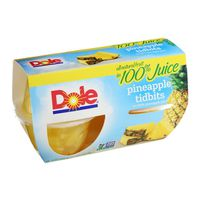 Dole Fruit Bowls Pineapple Tidbits