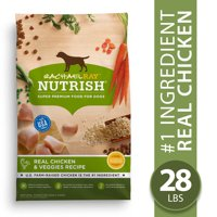 Rachael Ray Nutrish Natural Real Chicken & Veggies Recipe, Super Premium Dog Food (Various Sizes)