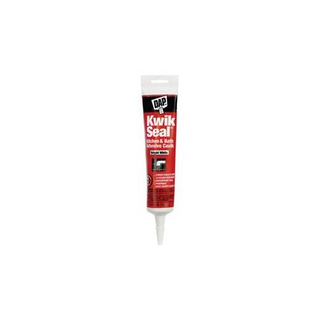 (6 Pack) DAP Kwik Seal Kitchen and Bath Adhesive Caulk, White 5.5 oz