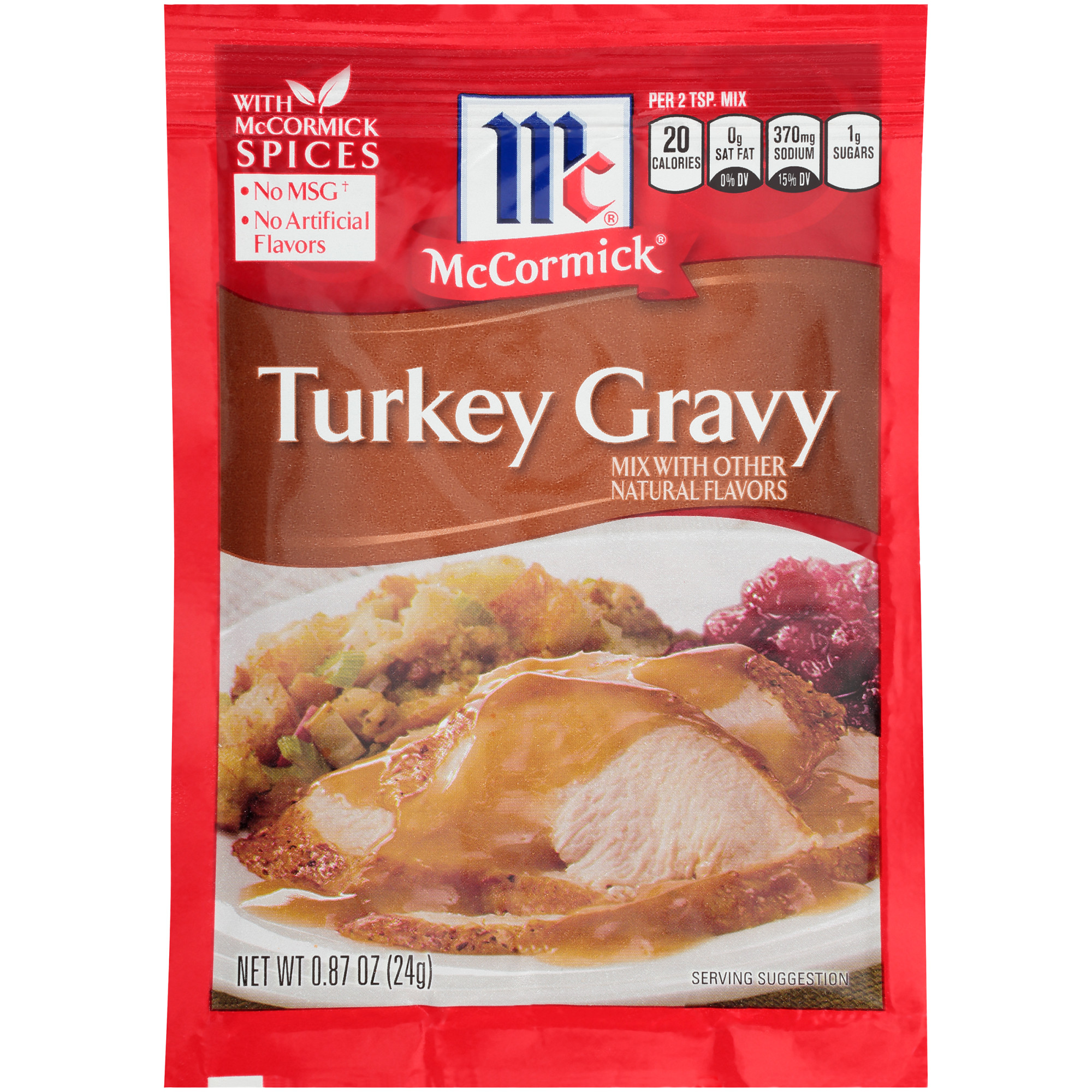 McCormick Turkey Gravy Seasoning Mix, 0.87 oz Pouch