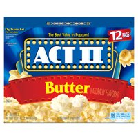 ACT II Butter Microwave Popcorn, Butter Popcorn, 2.75 Oz, 12 Ct