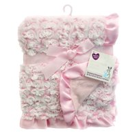 Parent's Choice Rosette Baby Blanket (Choose Color)