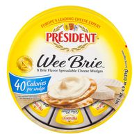 President Wee Brie Cheese Wedges - 8 CT