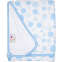 MiracleWare Muslin Baby Blanket Bubbles Blue