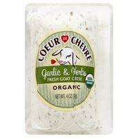 Coeur De Chevre Cheese, Fresh Goat, Organic, Garlic & Herbs