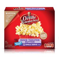 Orville Redenbacher's Movie Theater Butter Microwave Popcorn, 1.5 Oz., 12 Count