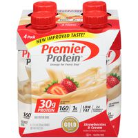 Premier Protein High Protein Shake, Strawberries & Cream, 4 Pack