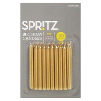 20ct Birthday Candle Gold - Spritz™