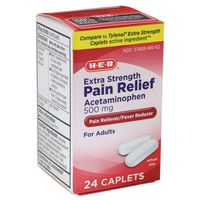 H-E-B 500mg Extra Strength Acetaminophen Pain Relief Caplets
