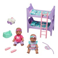 Kid Connection 22-Piece Baby Doll Room Play Set, African American