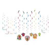 American Greetings Paw Patrol Party Supplies Hanging Swirl Decorations, 12-Count