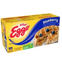 Kellogg's Eggo Frozen Blueberry Waffles Easy Breakfast 12.3 oz 10 ct