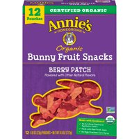 Annie's Organic Berry Patch Bunny Fruit Snacks 12 Count