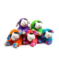 Multipet Polyester Plush Lamb Chop Dog Toy with Squeaker