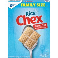 General Mills, Rice Chex Breakfast Cereal, Gluten Free, Family Size, 18 oz