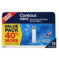 CONTOUR NEXT Blood Glucose Test Strips Value Pack, 70 Ct