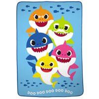 Baby Shark Plush Blanket, Kids Bedding, 62x90, Doo Doo Doo