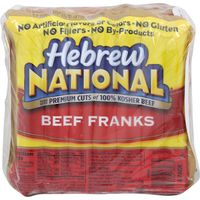 Hebrew National Beef Franks, 4 x 12 oz